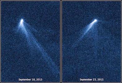 asteroide com seis caudas