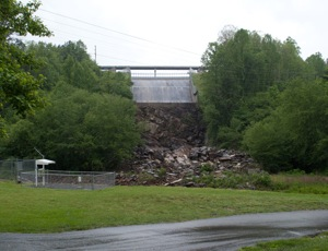 Nottely Dam Spillway Down