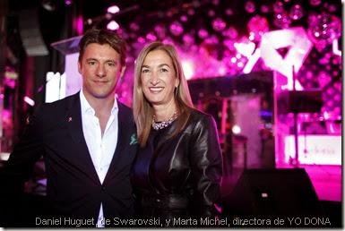 Daniel Huguet, de Swarovski, y Marta Michel, directora de YO DONA