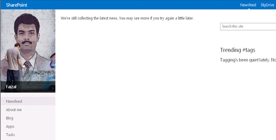 SharePoint 2013 newsfeed