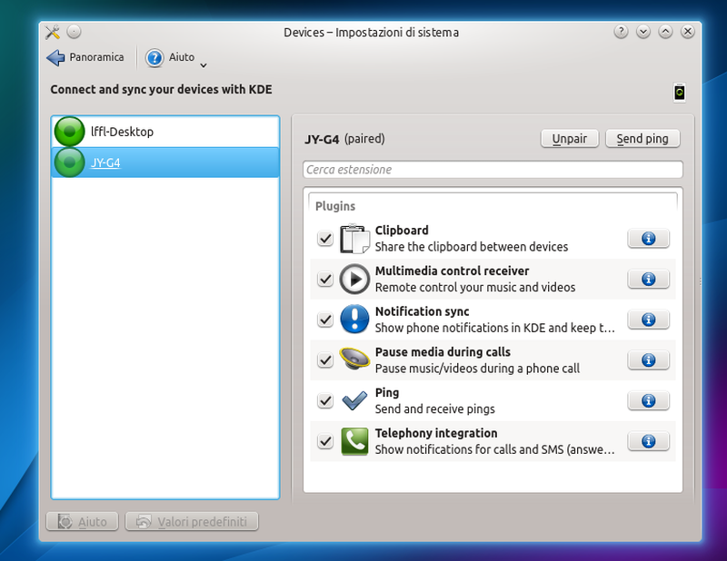 Kubuntu 14.04 - KDE Connect