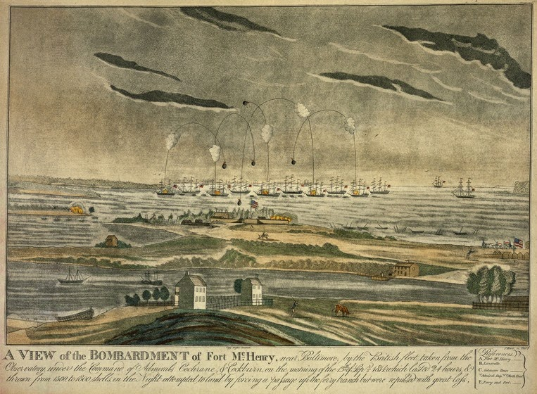 H89 A View of the Bombardment of Fort McHenry