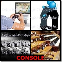 CONSOLE- 4 Pics 1 Word Answers 3 Letters