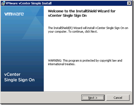 03_vCenter SSO Installer Welcome
