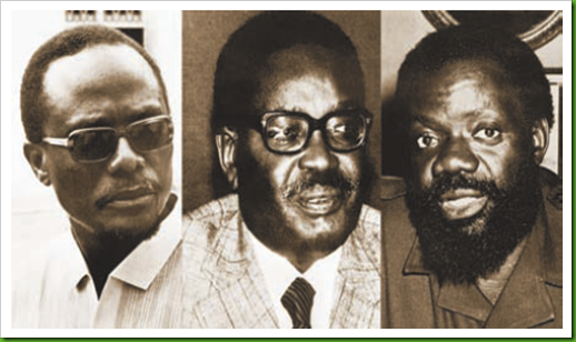 Holden Roberto, Agostinho Neto e Jonas Savimbi