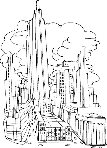 rascacielos para colorear
