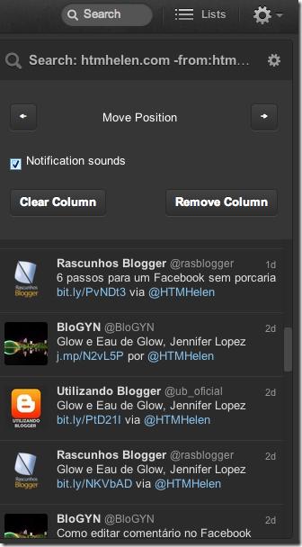 Busca por links do meu blog que eu não tuitei