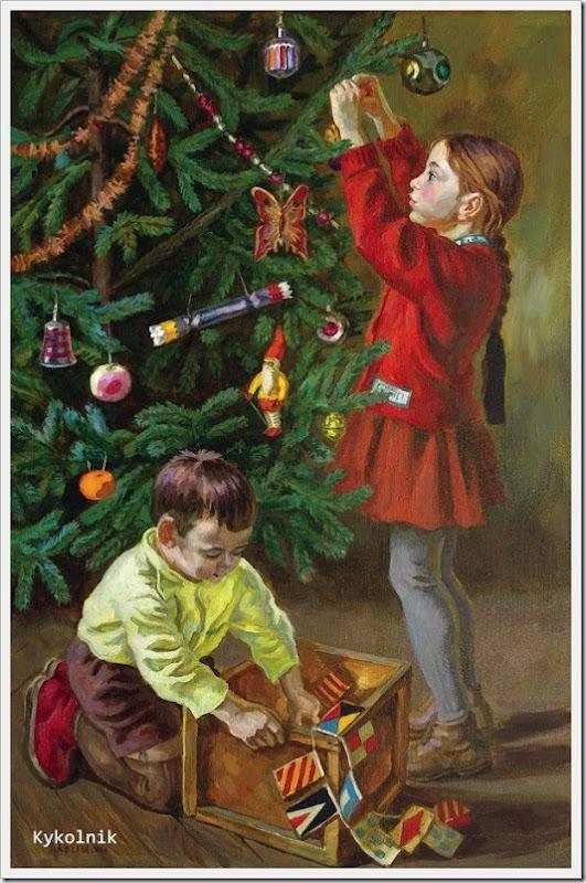 Хохловкина Эльза Давидовна (Россия, 1934)  «Дети у елки»   1970