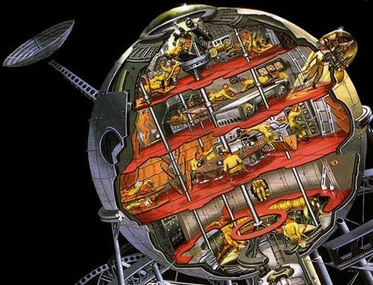 Sonnengewehr raumstation space station sun gun ray heat nazi super weapon wunderwaffe