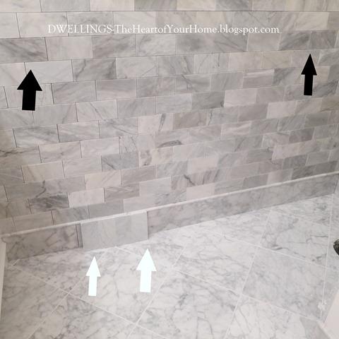 carrara marble darkens
