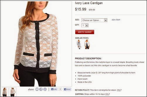 ivory lace cardigan Zulily
