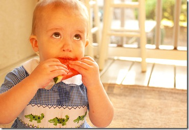 j with watermelon in his mouth