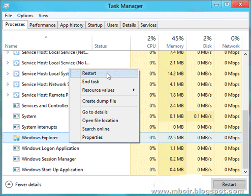 Windows 8 Task Manager - mboir