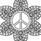 peace sign mandala coloring pages mandalas de paz