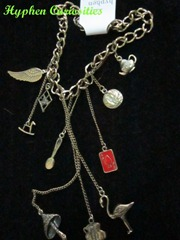 Alice charm necklace, hyphen