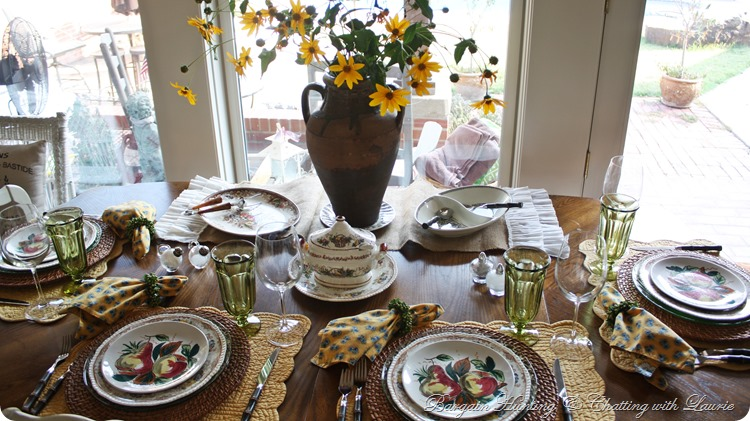 Almost Autmn Tablescape-Bargain Hunting with Laurie