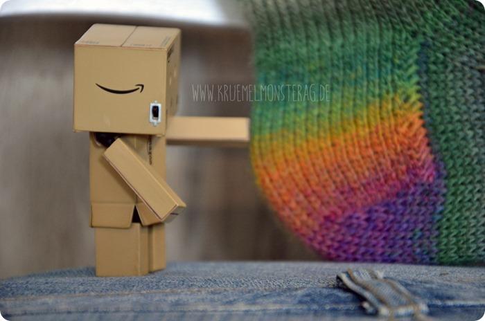 Zwei 20fünfzehn (04) Katia Olé Socks Rainbow einfach Gr. 41 bis 43