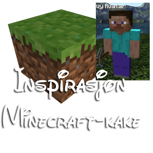 minecraft inspirasjon kake