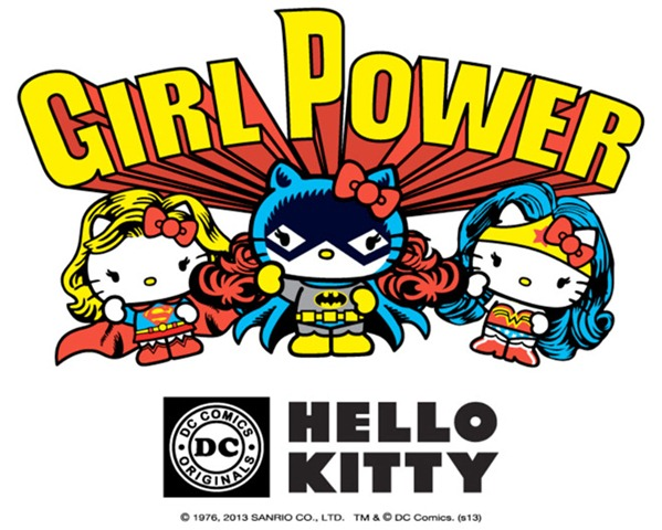 Hello Kitty Colaboración DC Comics Supergirl Batgirl WonderWoman