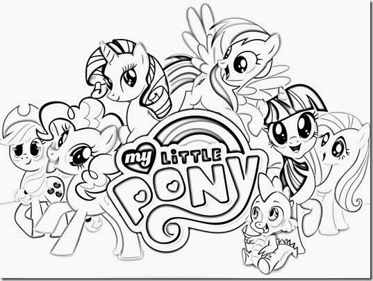My little pony para colorear -  mi pequeño pony para colorear