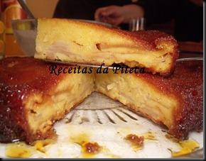 Bolo de maçã e caramelo-fatia