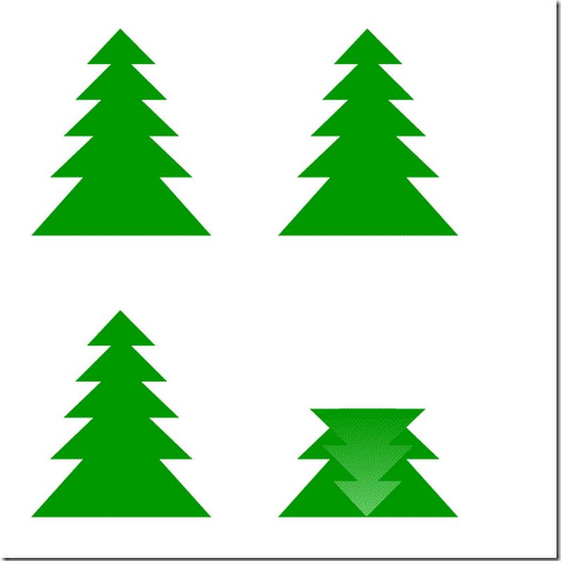 Manualidades navidad, árbol en 3D de cartulina