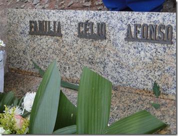 Túmulo da família de Celso em Uberaba, MG.