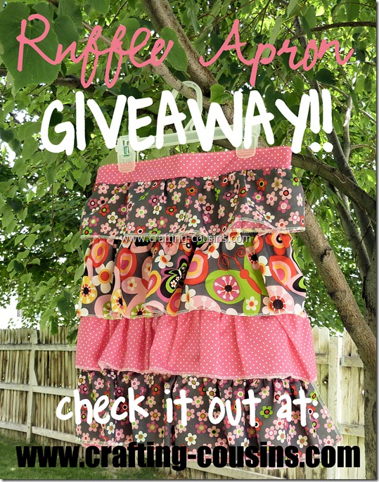 Ruffle Apron Giveaway at Crafty Cousins