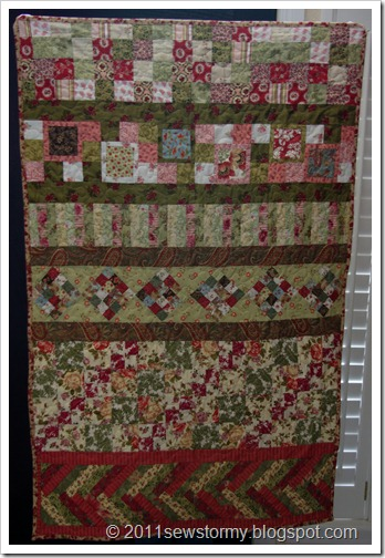 Finished 2010 Sister's Quilt