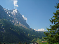 The Eiger and Kleine Scheidegg from Grindelwald