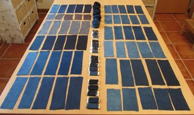 Vergleichsfärbungen Indigo Hydrosulfitküpe