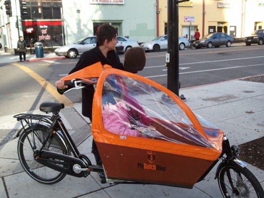 Dutch Bakfiets cargo bike in California