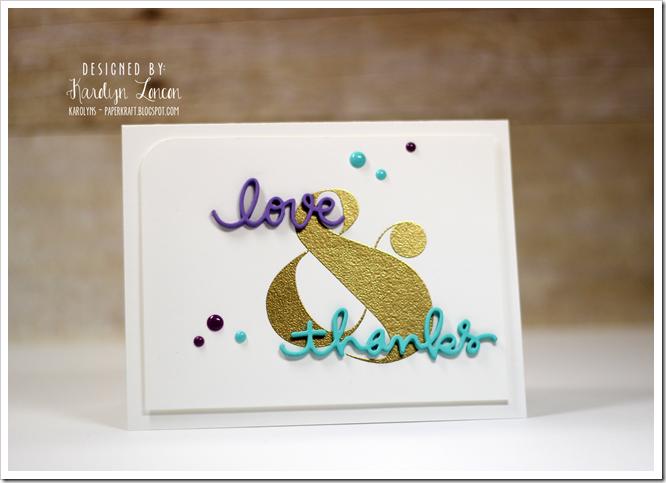 Love and Thanks - Seasons Givings Blog Hop