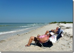 Relaxing at Honeymoon Island State Park near Tampa