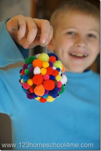 Kid made Christmas Ornament Craft