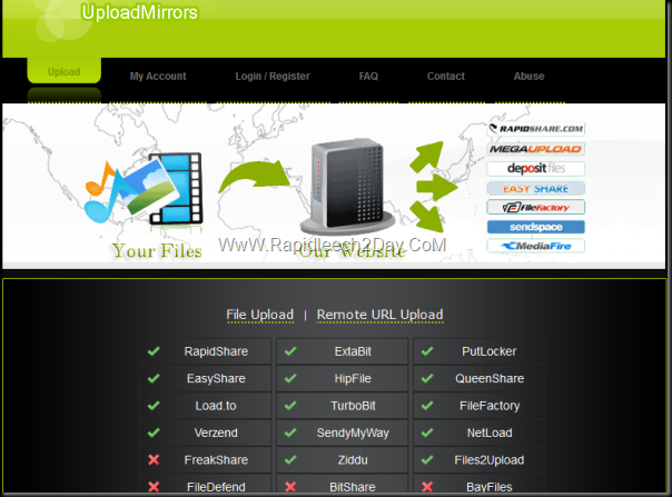 Uploadmirrors-multiple-file-hosting-sites