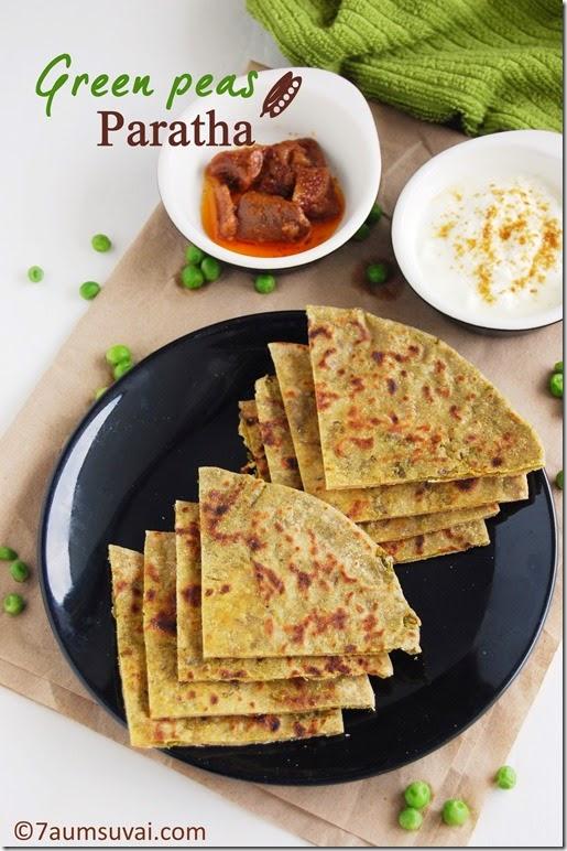 Green peas paratha pic 2