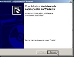 Windows XP : Atualizando Componentes do Windows : IIS :  FTP : Processo de Instalação : Concluir