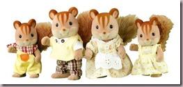 Sylvanian Squirrel Family