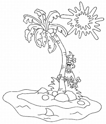 Tropical Beaches Coloring Pages