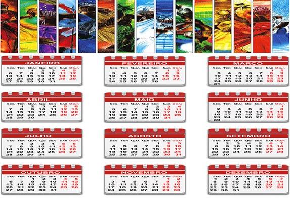 calendário dos orixás