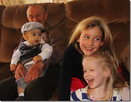Grandpa Jim & grandkids