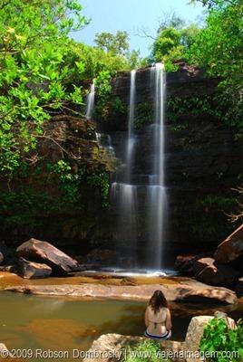 cachoeira no parque das sete cidades