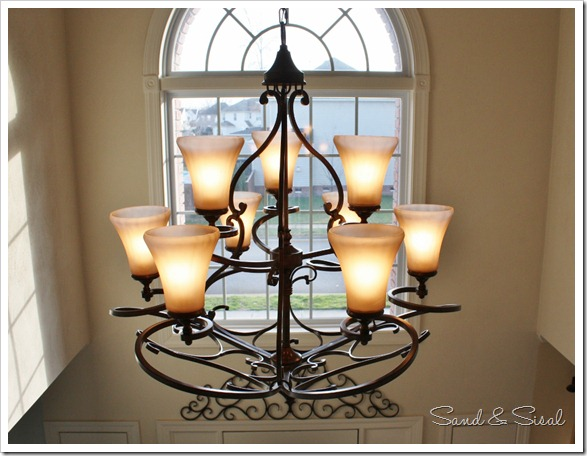 Hanging Chandelier Two Story Foyer : Let there be light hanging a chandelier in foyer
