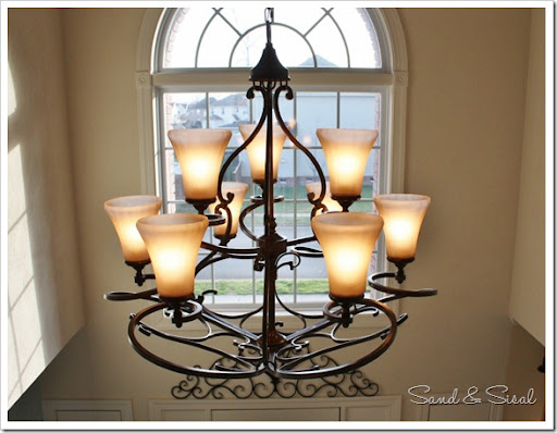 Loretto Chandelier & Let There Be Light! Hanging a Chandelier in a Foyer - Sand and Sisal azcodes.com
