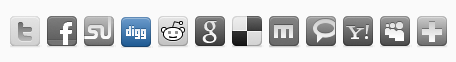 gray social icons