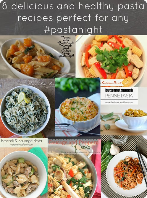pasta night collage for pollinate blog