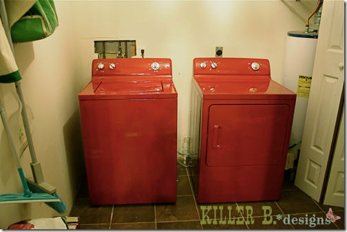 friday feature--painted washer and dryer from killer b designs blog