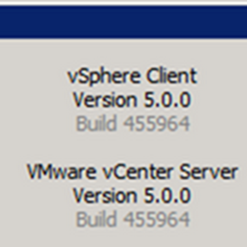 Quick Look: vCenter 5 Virtual Appliance