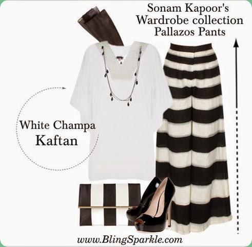 palazzo style, White Champa Kaftan